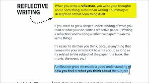 personal reflection essay writing a reflection reflection paper  writing a reflection portfolio essay example
