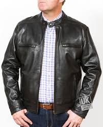 men s black leather jacket helium superior cow hide open