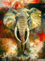 wildlife african elephant art painting by christiaanbekker this is incredible i am n away the detail is so precise and sensitive