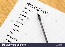 Lista De Compras Para El Supermercado De Arriba A Abajo De Una Lista De Compras Para El Supermercado Para