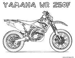 Coloriage Motocross 21 Dessin