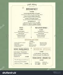Cafe Menu Template Menu Design For Breakfast Restaurant Cafe Graphic Design Template 18