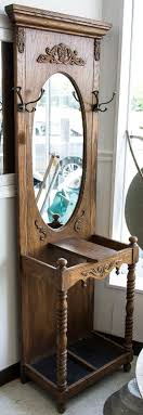 Mirror With Coat Rack Antique Hall Tree Storage Bench Entryway Furniture Ideas Brilliant 89