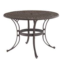 home styles biscayne 42 in w x 42 in l round aluminum dining table