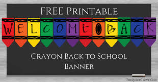 Free Printable Welcome Back To School Banner Welcome To