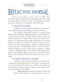 reflective journal unit