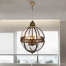 vintage loft globe pendant lights wrought iron glass shade round lamp kitchen dinning bar table luminaire fixture hanging lamps clear glass pendant lights