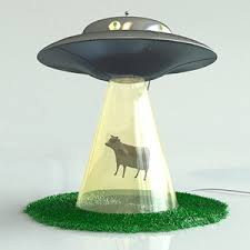 cow abduction lamp photo - 4