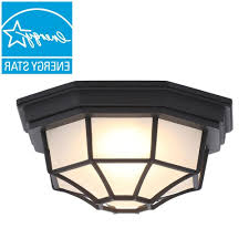 2018 hampton bay black outdoor led flushmount hb7072led 05 the home depot in hanging outdoor