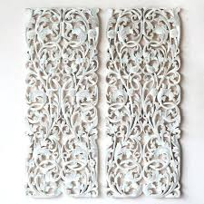 wall carved carved wood wall panel pair of wall art panel wood
