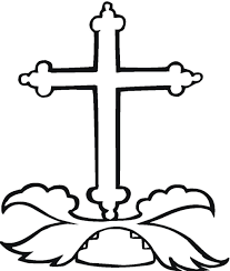 Stained Glass Cross Printable Coloring Sheet Sunday School New Pages