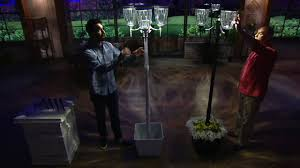 Energizer Solar Lights Energizer 3 Fixture Solar Lamp Post With Planter Base On Qvc