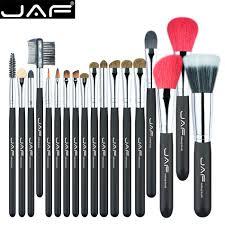 item j1813ay b bristle hair mostly ferrule barrel aluminum handles wood content 1 set of make up brushes ng poly bag idividually