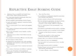 reflective essay junior essay consider the following topic 5 reflective essay scoring guide