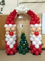 santa arch and tree balloon tower