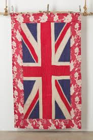 The Terrier and Lobster: Becky Oldfield Quilted Antique Union Jack Blankets