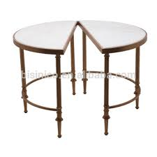 marble top end tables. Noble Round Coffee Table With Marble Top, Unique Design Detachable End Iron Stand Top Tables U