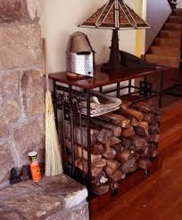 Mission Style Indoor Firewood Rack - Learn more about this at http://www