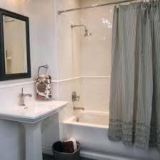 ticking stripe shower curtain gray ruffle athletics brown t