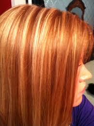 Red Hair With Blonde Highlights For