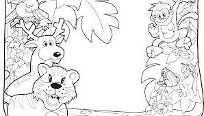 Safari Coloring Page Jungle Safari Coloring Pages Preschool Safari