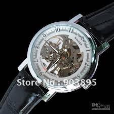 best gift winner brand skeleton watch black leather strap hand see larger image