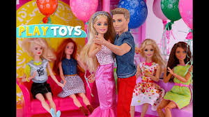 barbie doll birthday party in the doll house