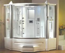 Ariel SSA Steam Shower With Whirlpool Bathtub Whirlpool - Bathroom with jacuzzi and shower