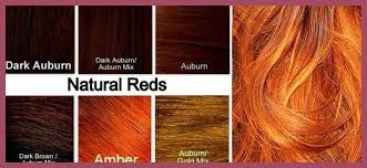 Natural Red Hair Chart Wondrous Red Hair Color Chart Pics Of Hair Color Concepts