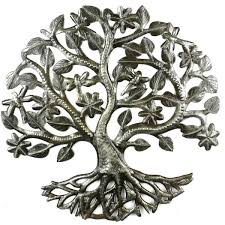 14 inch tree of life dragonfly metal wall art croix des bouquets on tree of life outdoor metal wall art with 14 inch tree of life dragonfly metal wall art fair trade home