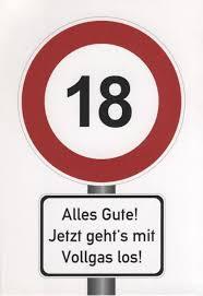 Lustige Postkarte Sprüche 18 Geburtstag Postkarten