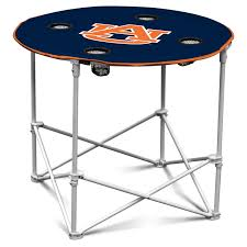 logo chair ncaa college team logo portable round tailgating table hayneedle