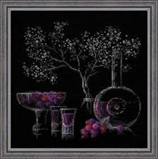Details About Still Life With Liquor Riolis Counted Cross Stitch Kit W Black Aida New