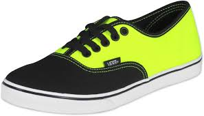 vans yellow and black. black and neon yellow vans with laces
