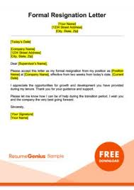 Sample Of Resignation Letter From Jobs Resignation Letter Samples Free Downloadable Letters