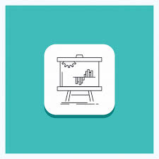 T Chart Stats Round Button For Business Chart Data Graph Stats Line Icon T