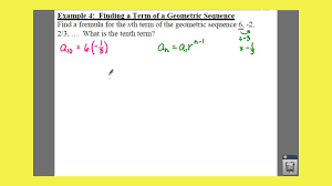 Geometric Sequence Example Pre Calculus 2424 Geometric Sequences And Series Lessons Tes Teach 10