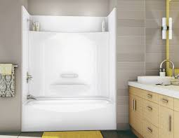 it s here one piece bathtub shower combo best unit fiberglass units home