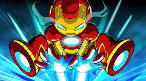 2048x1152 Iron Man Cartoon Digital Art ...