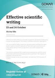 Scientific Writing Att Effective Scientific Writing Ccmar