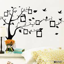pvc removable photo frame family tree wall stickers decorative wall decals tree home decoration wall art wallpaper right facing wall sticker art decor wall