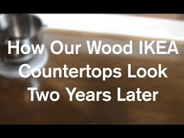 how our diy ikea butcher block wood countertops look 2 years later anoregoncottage com