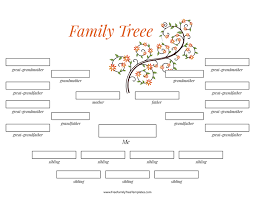4 Generation Family Tree Many Siblings Template Free