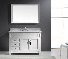 48 inch mirror. Virtu USA Victoria (single) 48-Inch Transitional Bathroom Vanity With Mirror - White 48 Inch E