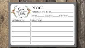 Recipe Card Templates Free Recipe Card Template 10 Free Pdf Download Free