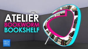 mod the sims  atelier bookworm bookshelf