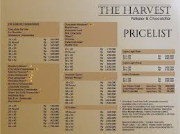 The Harvest Mangga Besar Menu Updated Menu For The Harvest
