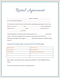 39 Excellent Rental Lease And Agreement Template Examples : Thogati
