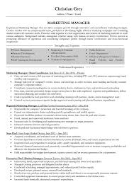 Marketing Manager Resume Samples And Writing Guide 10 Examples