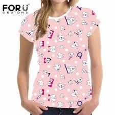 <b>FORUDESIGNS T Shirt Women</b> 2019 Brand Women's Summer Tops ...